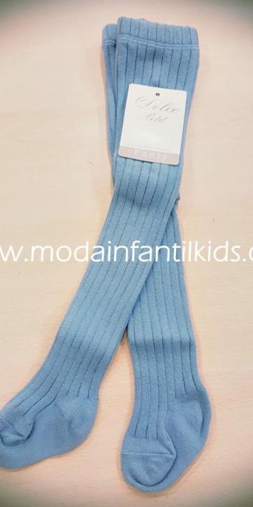 Leotardo bebe y niña canale color azul azafata Dolce Petit 2500/L