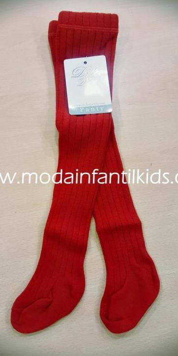 Leotardo bebe y niña canale color rojo Dolce Petit 2500/L
