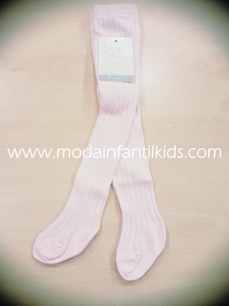 Leotardo bebe y niña canale color rosa bebe Dolce Petit 2500/L