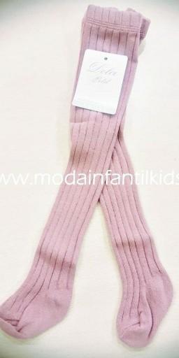 Leotardo bebe y niña canale color rosa empolvado Dolce Petit 2500/L