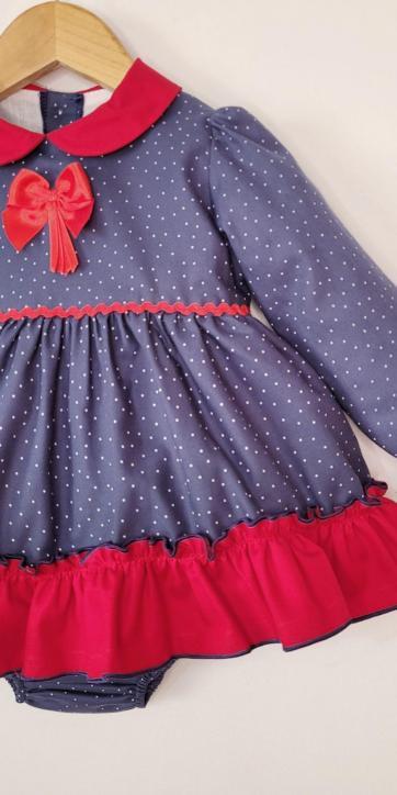 Vestido bebe vestir de lunares de Eva Class