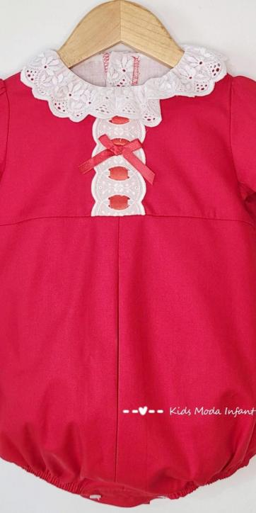 Pelele bebe vestir rojo de Eva Class [2]