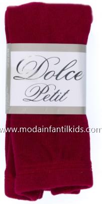 Leotardo bebe y niña Liso color granate Dolce Petit 2501/L
