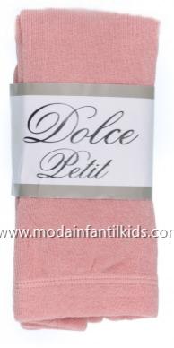 Leotardo bebe y niña Liso color rosa empolvado Dolce Petit 2501/L
