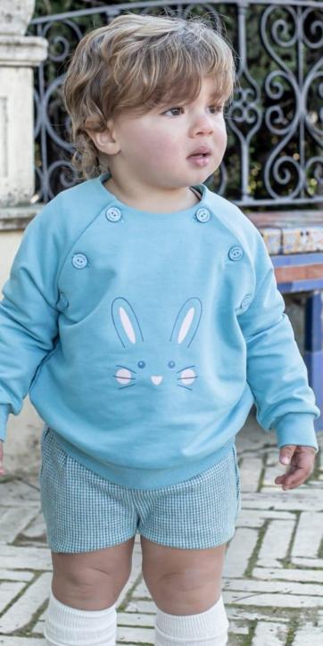 Conjunto bebe niño sudadera conejo Nekenia