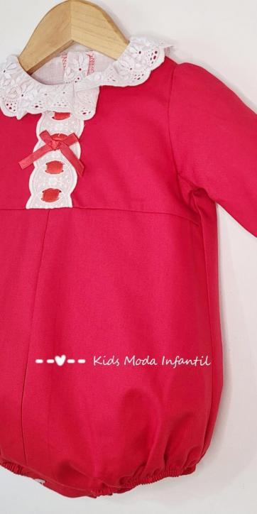 Pelele bebe vestir rojo de Eva Class [1]