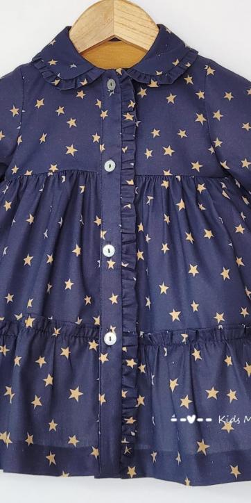 Vestido bebe camisero estrellas estampadas de Cuka Moda Infantil [3]