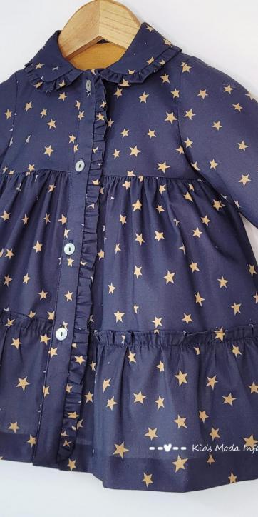Vestido bebe camisero estrellas estampadas de Cuka Moda Infantil [2]