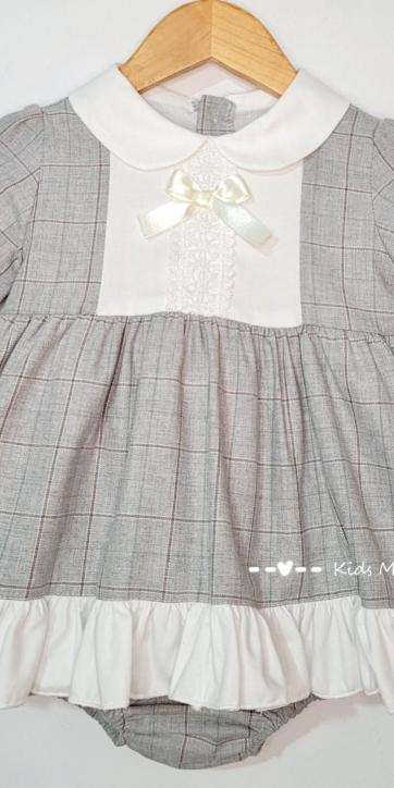 Vestido bebe vestir de cuadros grisese de Eva Class [2]