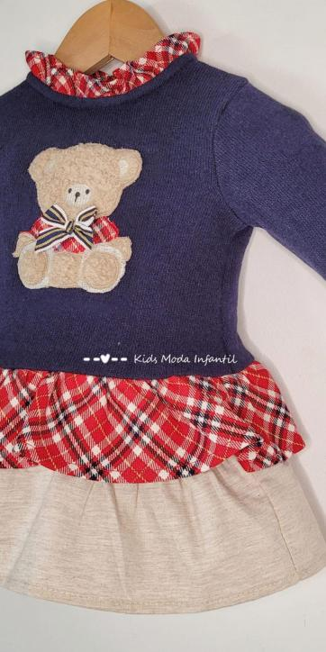 Vestido bebe punto marino Coco Acqua Moda Infantil
