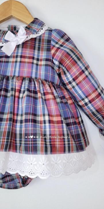 Vestido bebe vestir cuadros de Eva Class