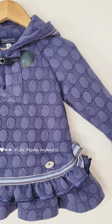 Vestido niña vestir azulón con capucha de Basmartí [1]