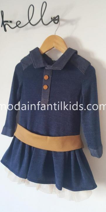 "Nekenia Vestido Niña punto marino con falda vuelo ""Kala"" 1911804 [1]"