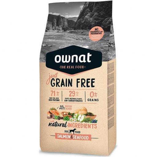 Ownat Just Grain Free Salmón & Seafood 14kg