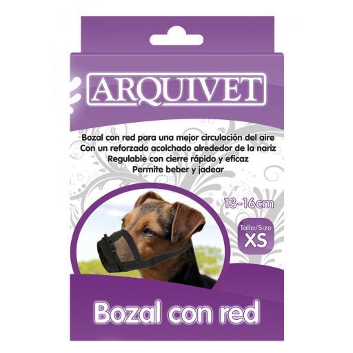 Bozal de nylon con red talla 1