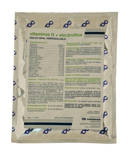 Vitaminas TT+Electrolitos 100gr