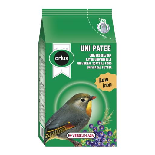 Uni patee pasta húmeda 1kg para pájaros insectívoros y frugívoros.