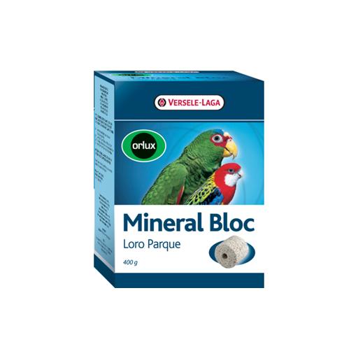 Orlux Bloque mineral loropark 400g para periquitos y papagayos.