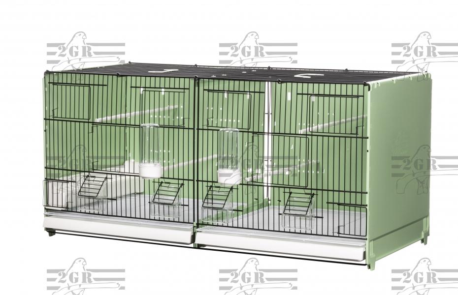Jaula de Cria 90cm 2GR Desmontable verde