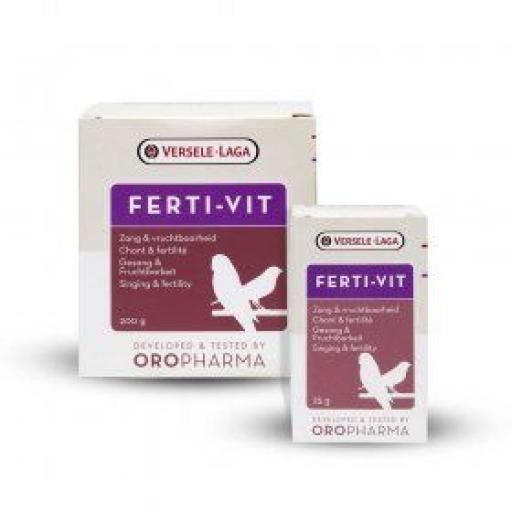 Oropharma Ferti-vit con vitamina E 200 gr estimula el celo, la cría y el canto