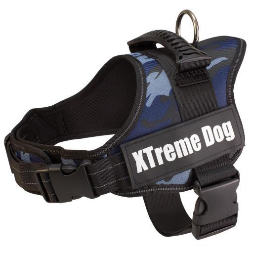 Arnes XTreme Dog azul camuflaje para perros talla L