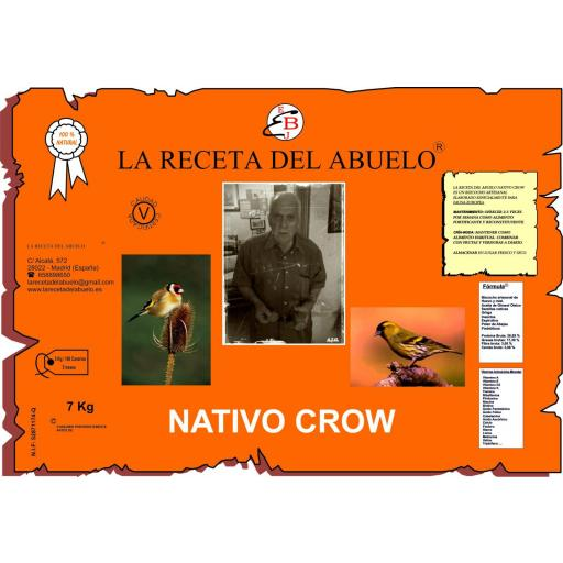 Pasta de cria Nativo Crow 7kg
