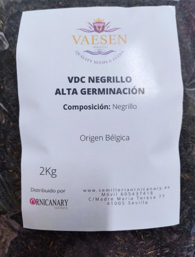Vaesen Negrillo Alta Germinacion sin dore 2kg