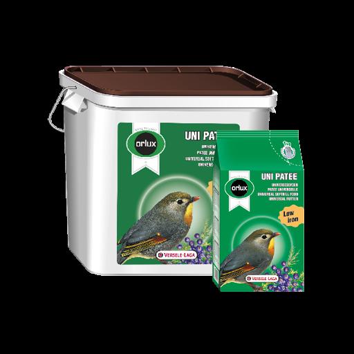 Orlux Uni patee pasta húmeda 5kg para pájaros insectívoros y frugívoros.