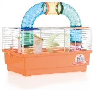 Jaula Hamster Cria Blanca- 1 Piso con TUBOS 1032