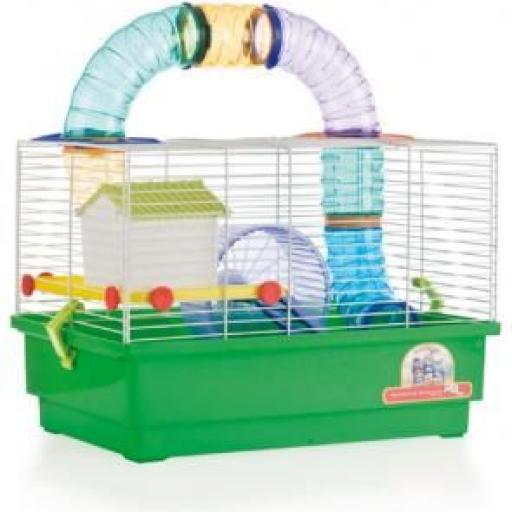 Jaula Hamster Cria Blanca - 2 Pisos con TUBOS 1034