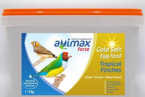 Avimax pasta de cria con huevo con prebioticos probioticos vitaminas aminoacidos y insectos Hierbas y verduras blandas