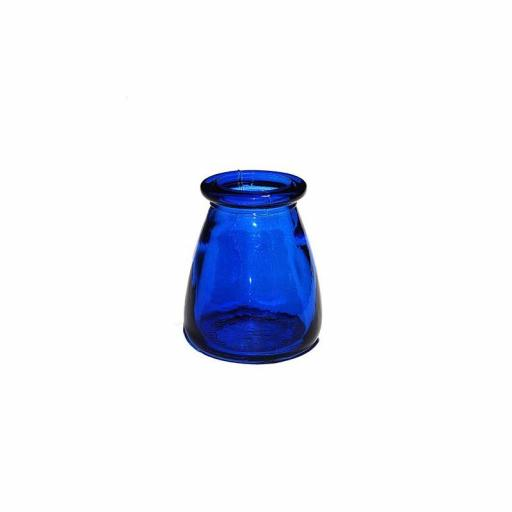 Bebedero cristal olleta azul oscuro