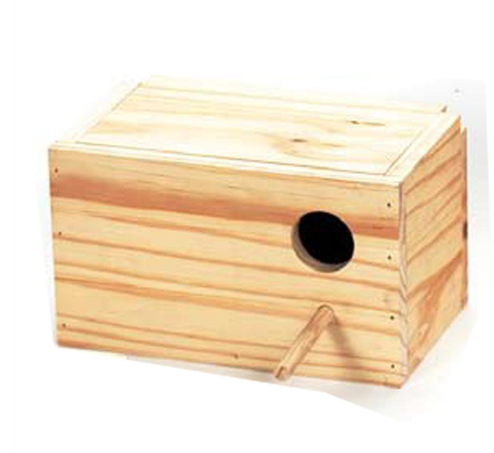 Nido para periquito de madera
