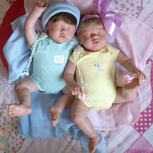 """ROMÁN y NEREA... mellizos reborns """"Real Baby"""":"""