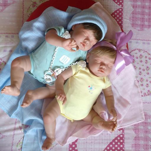 """ROMÁN y NEREA... mellizos reborns """"Real Baby"""": [3]"""