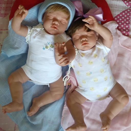"""ADRIÁN y CELINE: mellizos reborns dormiditos """"Real Baby"""" [3]"""