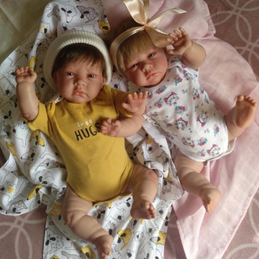 """Bebés reborns mellizos VÍCTOR y DUNIA: """"Real Reborns Prematuros"""""""