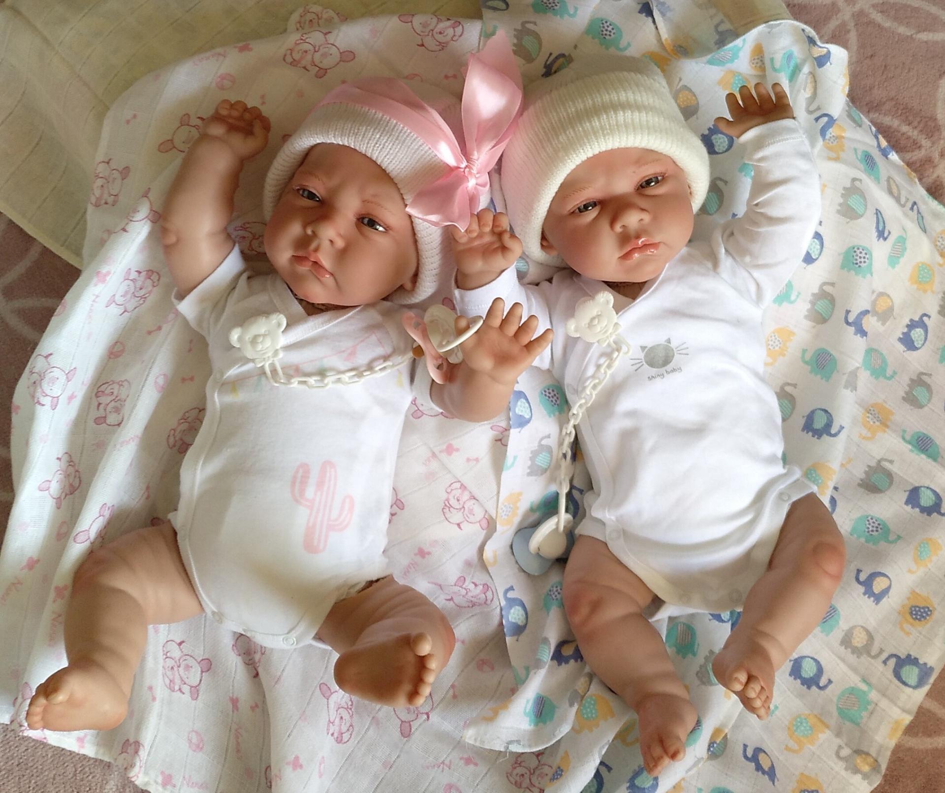 """Bebés reborns mellizos CIELO y ALMA """"Real Reborns Prematuros"""""""