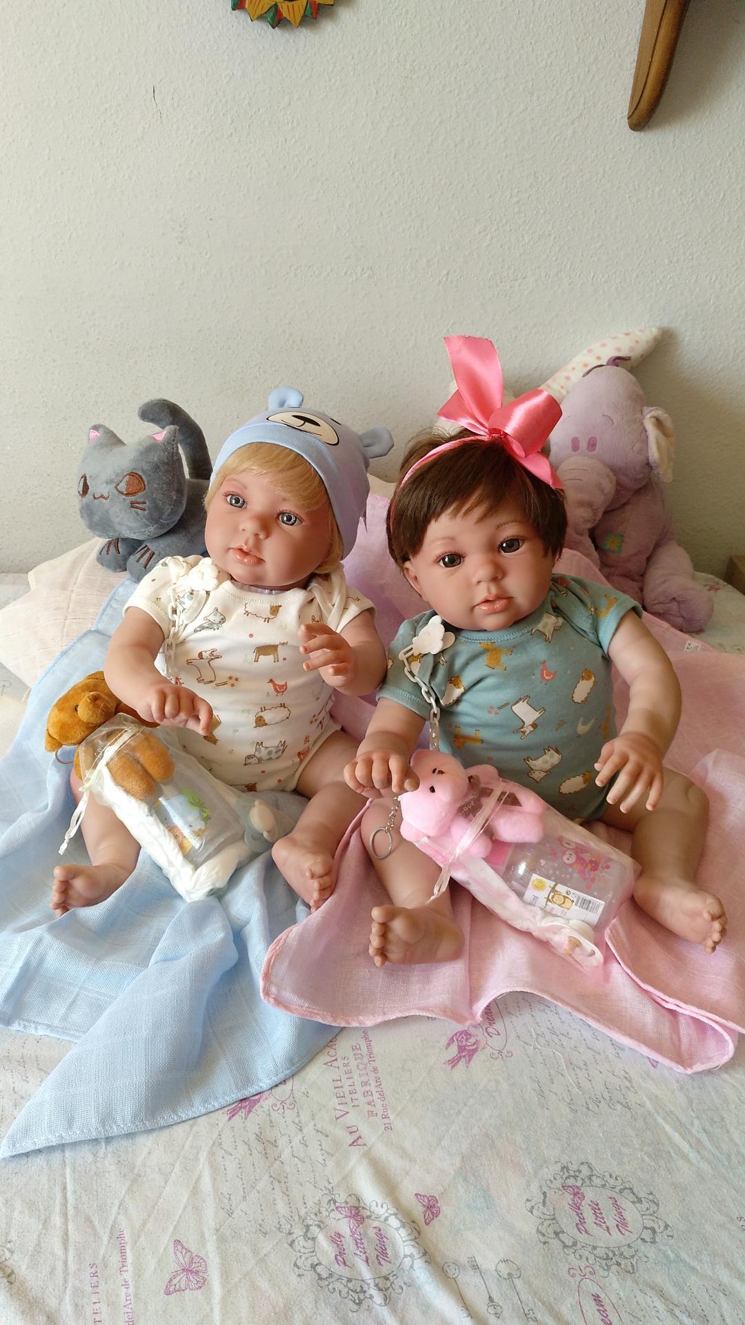 """NICOLÁS y MIRABELLA... mellizos reborns """"Real Baby"""":"""