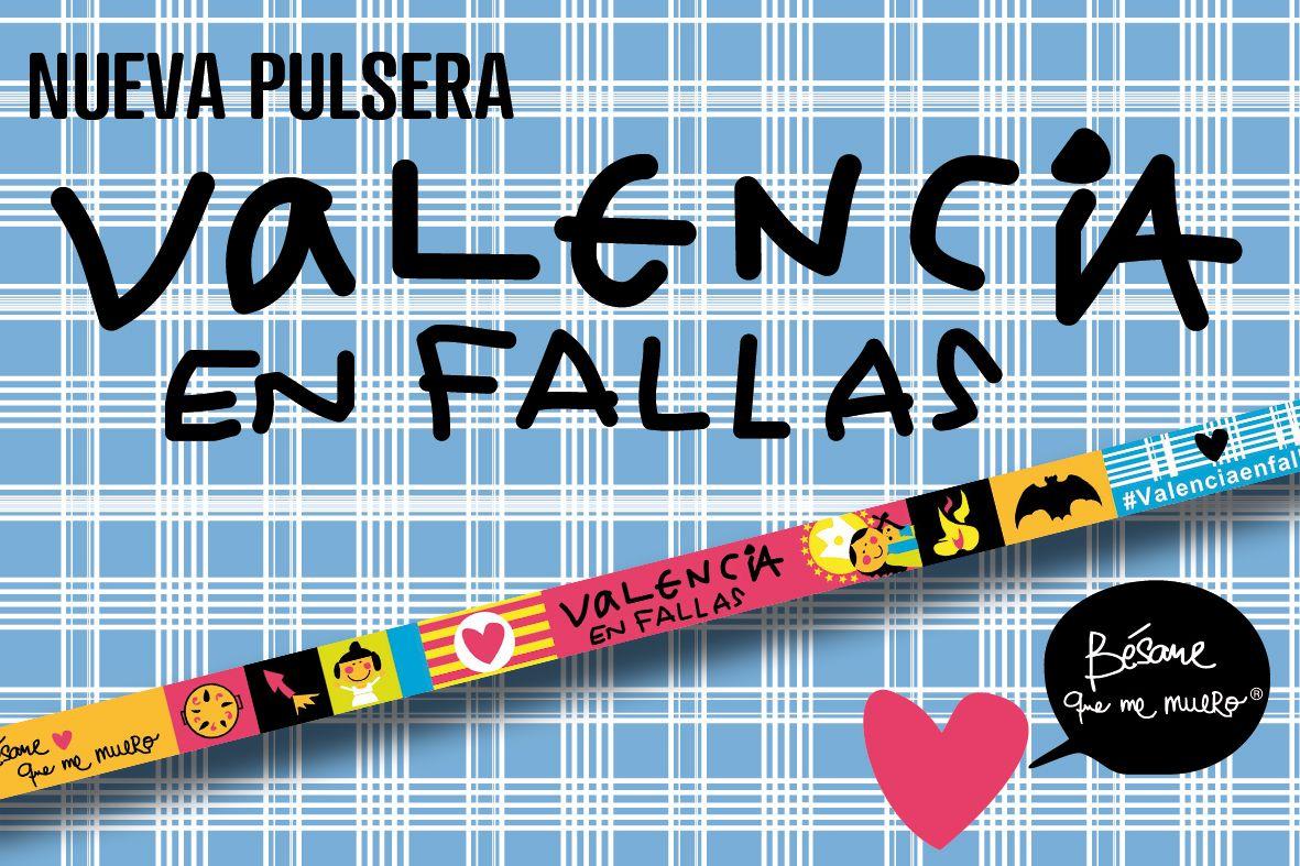 PORTES GRATIS - 10 PULSERAS OFICIALES VALENCIA EN FALLAS