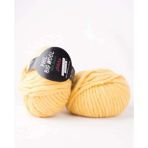 PHIL BIG WOOL COLOR GOLD