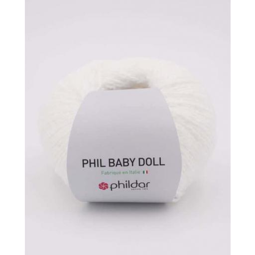PHIL BABY DOLL COLOR BLANC