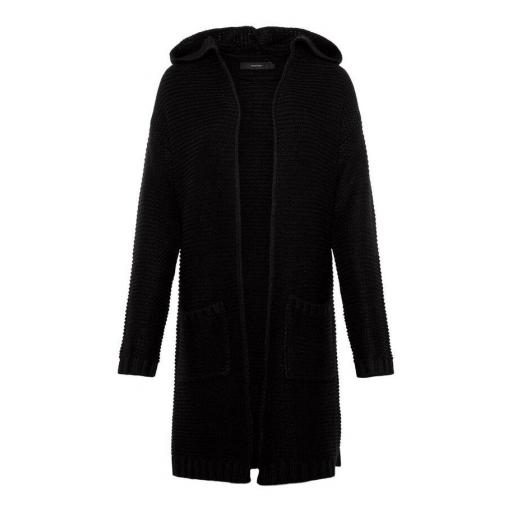 VERO MODA VMNONAME NO EDGE LS LONG HOOD CARDIGAN COLOUR BLACK REF 10217837