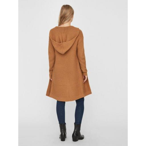 VERO MODA VMNONAME NO EDGE LS LONG HOOD CARDIGAN COLOUR AMBER GOLD REF 10217837 [3]
