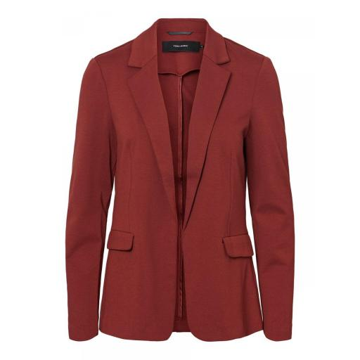 VERO MODA VMNINA LS BLAZER BOX COLOR MADDER  BROWN SOLID REF 10220887