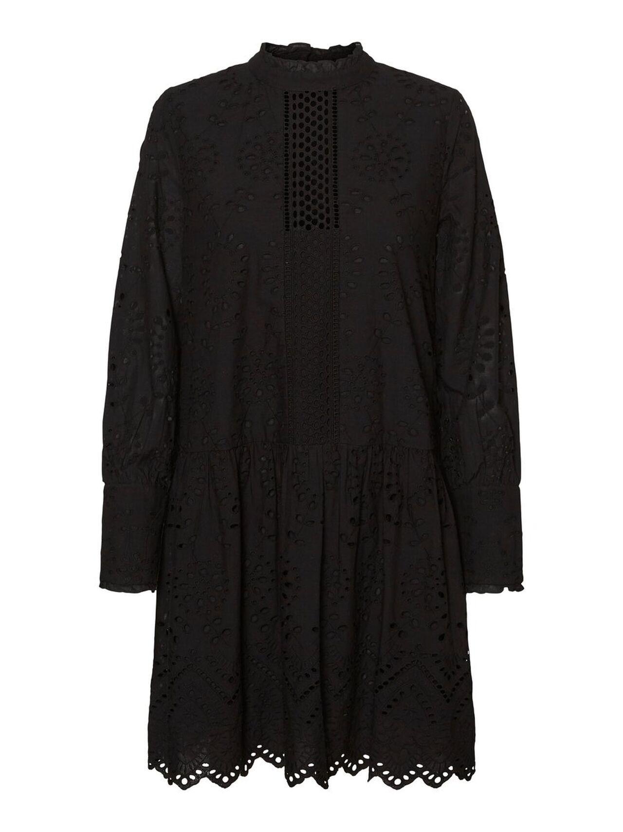 VERO MODA VMPERFECT EMB LS SHORT DRESS SB2 COLOR BLACK REF 10231386