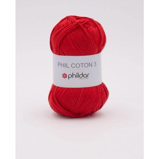 PHIL COTON 3 COLOR CERISE
