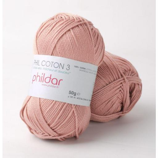 PHIL COTON 3 COLOR VIEUX ROSE
