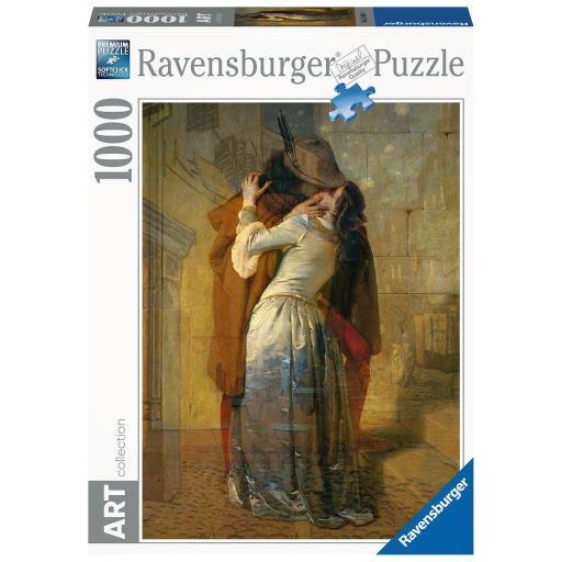 RAVENSBURGER  ART COLLECTION HAYEZ EL BESO  1000 PIEZAS