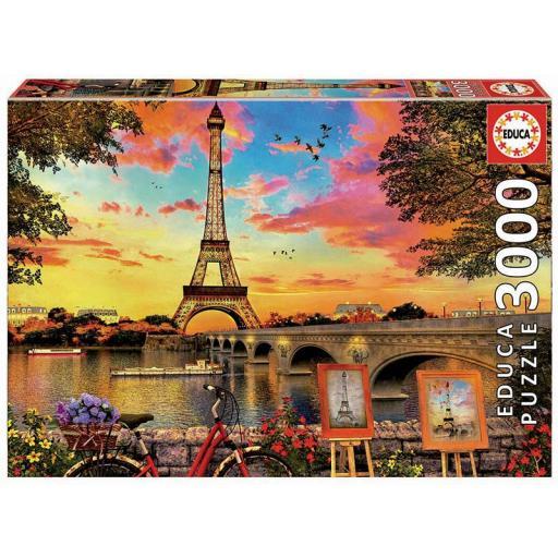 EDUCA BORRAS REF 17675  PUESTA DE SOL EN PARIS  3000 PIEZAS